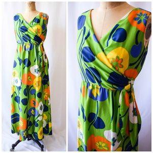 Vintage 1960s/ 1970s Floral Maxi Dress